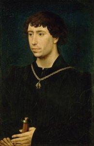 Karel de Stoute (r. 1467-1477), geschilderd door Rogier van der Weyden, Berlijn Staatliche Museen