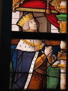 Filips de Schone (gekroond) op een glasraam in de Sint-Gummaruskerk te Lier