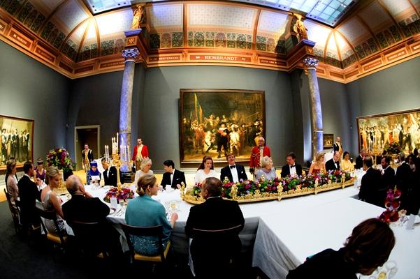 Diner bij het afscheid van koningin Beatrix in het Rijksmuseum Bron: www.koninklijkhuis.nl