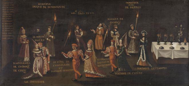 Feest van de fazant.  Kopie naar anoniem, ca. 1500 - ca. 1599. Amsterdam, Rijksmuseum nr. K-A-4212. Bron: https://www.rijksmuseum.nl/nl/collectie/SK-A-4212.