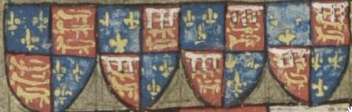 Edward III en zijn zonen. KB, Brussel ms. IV 684 f. 43v.