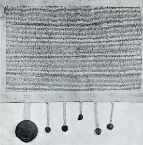 Blijde Inkomst. Brussel, Algemeen Rijksarchief, A.R.A., Charters van Brabant, nr. 900. Bron: http://www.dbnl.org/tekst/_bli002blij01_01/_bli002blij01_01_0001.php