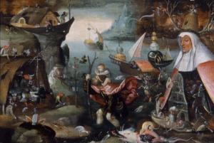 Navolger van Jeroen Bosch, De heilige Christoffel. Noordbrabants museum nr. 08057. Bron: klik hier http://www.thuisinbrabant.nl/object/noordbrabants-museum/08057