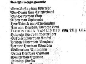 Fragment uit Annales généalogiques de la maison de Lynden, divisées en XV livres van C. Butkens.